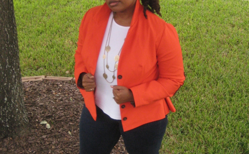 Orange Peplum Jacket