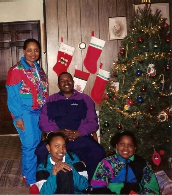 My family. Christmas mid 1990s.